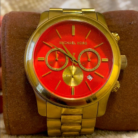 Gold MK Boyfriend Watch